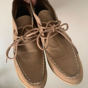 Suede Moccasin Style Booties